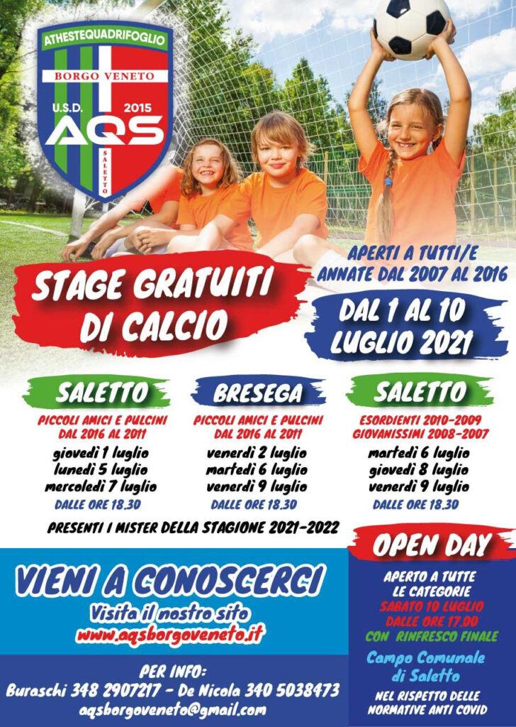 STAGE GRATUITI DI CALCIO AQS Borgo Veneto